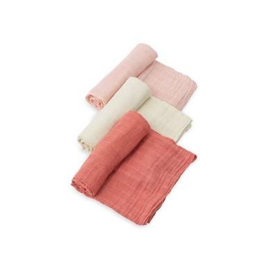 Little Unicorn Cotton Muslin Swaddle Blanket - Rose Petal 3pk
