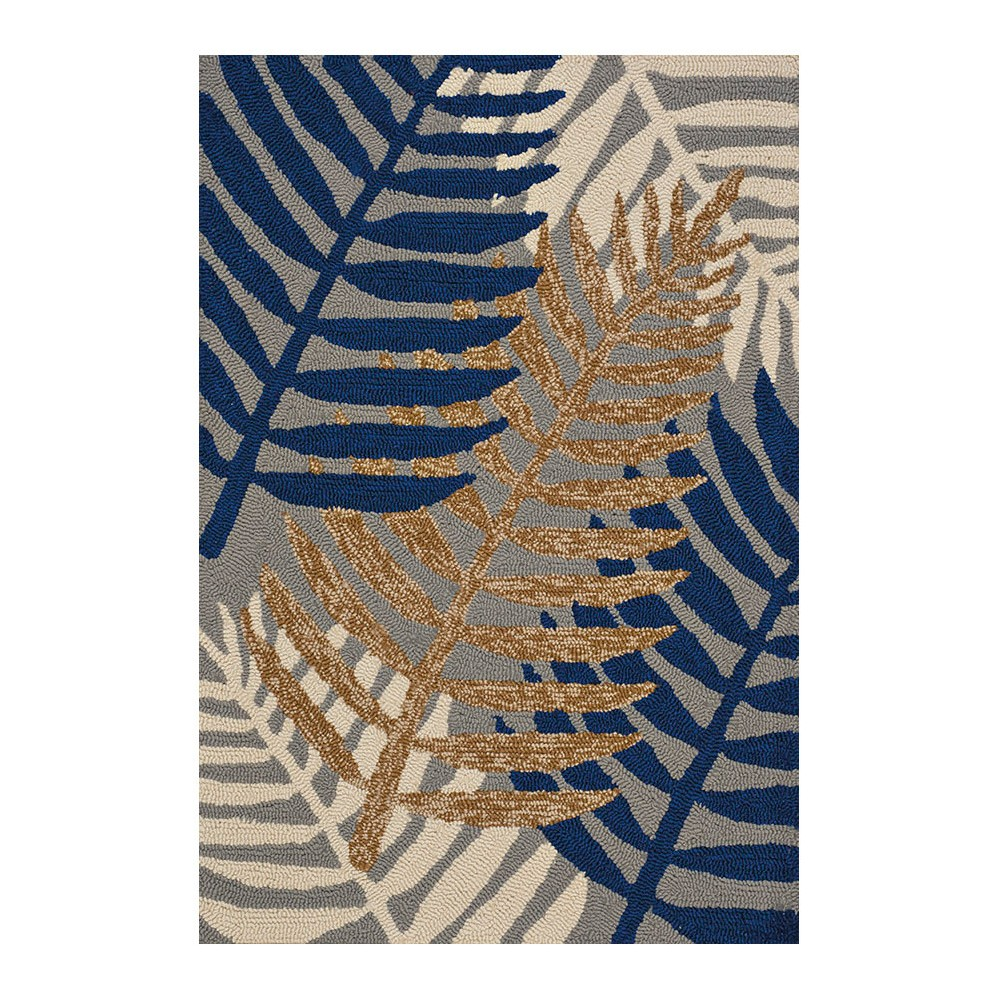 """Image of """"Brown Leaf Hooked Oval Accent Rug - (1'11""""""""x3') - United Weavers"""""""