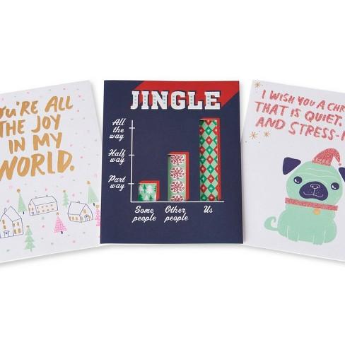 3ct Funny Christmas Card Bundle Target