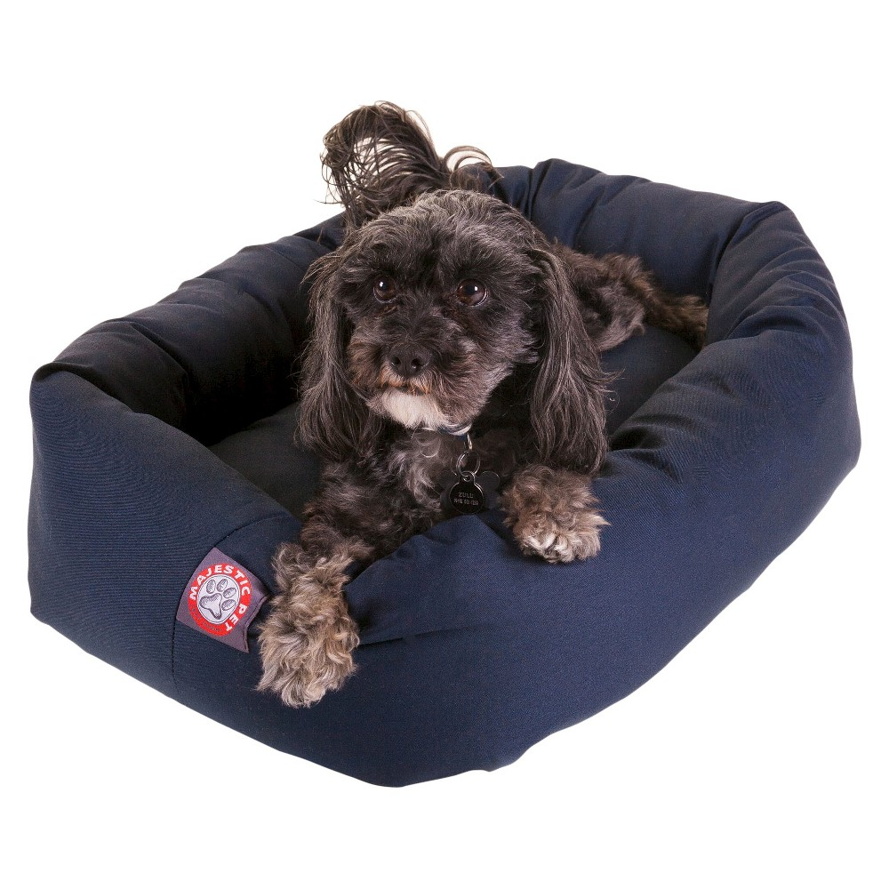 Majestic Pet Sherpa Bagel Pet Bed - Blue - Small