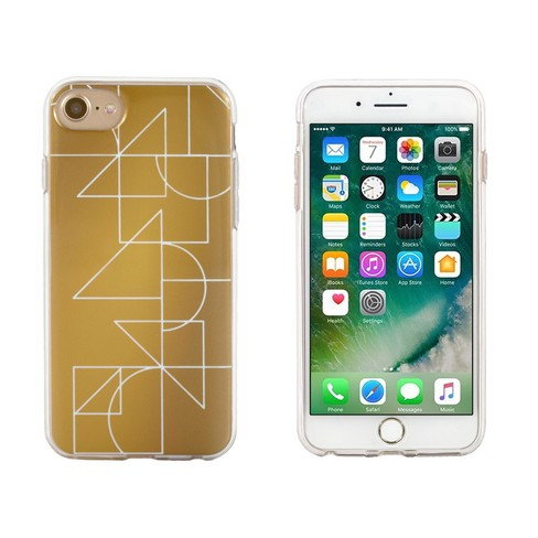 End Scene Apple iPhone 8/7/6s/6 Case - Gold Deco Geo Lines - image 1 of 1