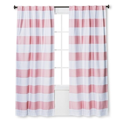 Twill Light Blocking Curtain Panel Pink (42 x84 )- Pillowfort™