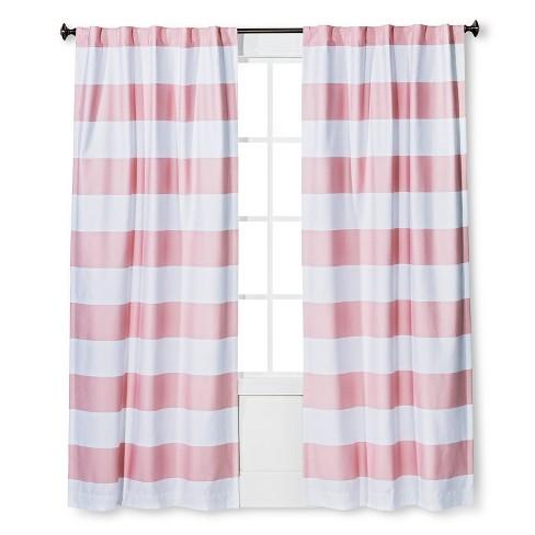 84 Quot Twill Light Blocking Curtain Panel Pink Pillowfort