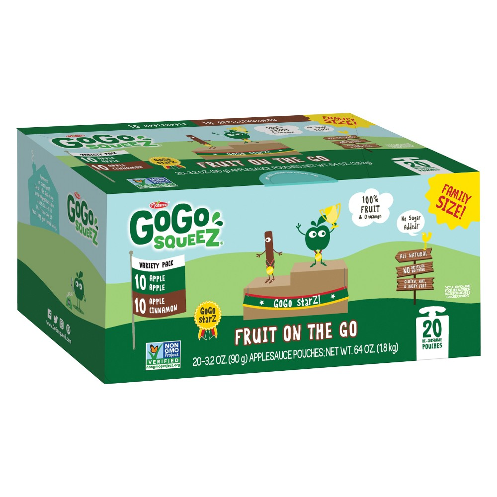 GoGo SqueeZ Fruit on the Go Variety Pack Apple Apple, App...