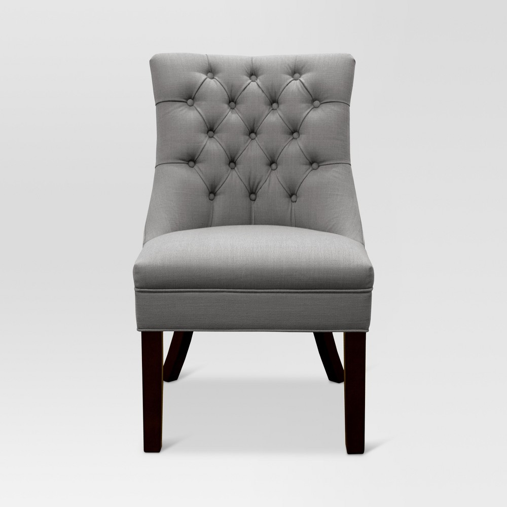Winslow Tufted back Chair Gray - Threshold, Light Gray