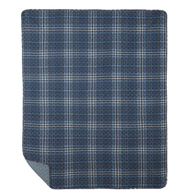 """C&F Home Anthony Navy Cotton Quilted 48"""" x 60"""" Throw Blanket"""