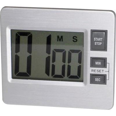 """Tatco Digital Timer Desk/Wall 3-3/8""""x3/4""""x3"""" Silver/Black 52410"""