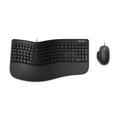 Microsoft Ergonomic Wired Keyboard and Mouse Desktop Bundle - Wired USB 2.0 Type A Connectivity - 3000 frames per second for Mouse