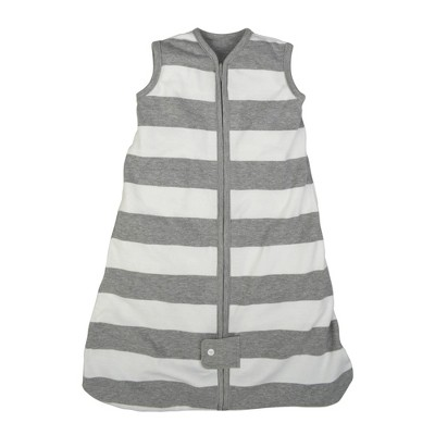 Burt's Bees Baby® Beekeeper™ Wearable Blanket Organic Cotton - Rugby Stripes - Gray - M