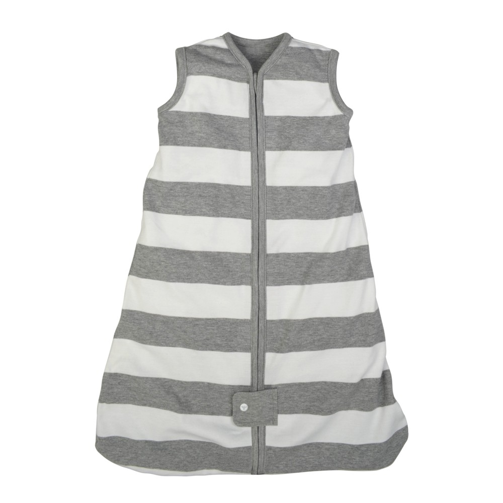 Image of Burt's Bees Baby Beekeeper Wearable Blanket Organic Cotton - Rugby Stripes - Gray - S