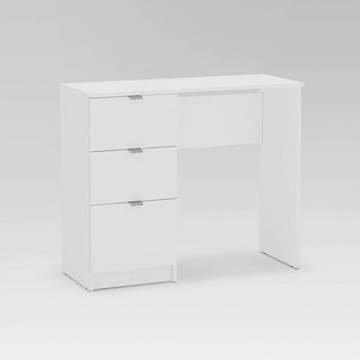 Bristol 3 Drawer Writing Desk White - Chique