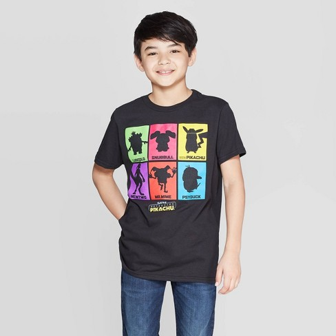 Boys' Pokemon Detective Pikachu Suspects Short Sleeve T-Shirt - Black - image 1 of 3