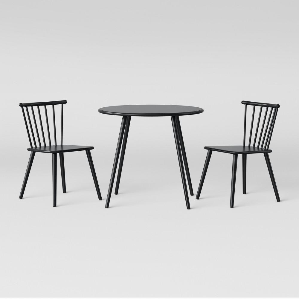 Metal Windsor Table And Chair Set Black - Pillowfort