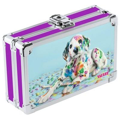 Metal Pencil Box Sparkle Painted Puppy - Vaultz
