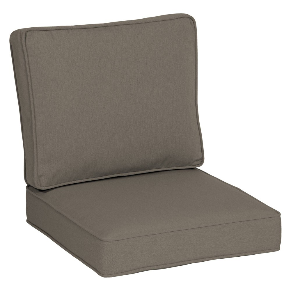 24 34 X 24 34 Plush Deep Seat Cushion Set Mink Arden Selections