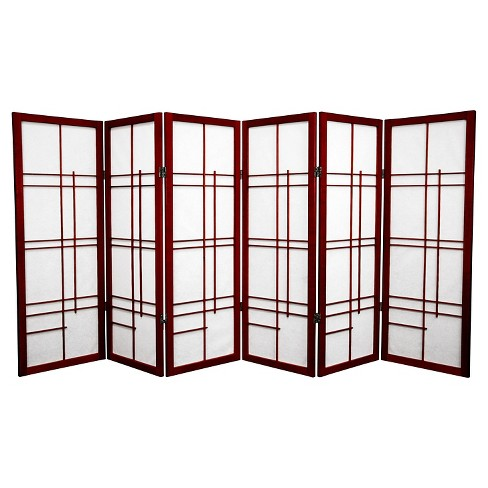 4 ft. Tall Eudes Shoji Screen - Rosewood (6 Panels) - image 1 of 1