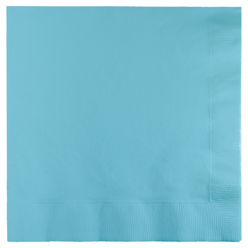 50ct Pastel Blue Disposable Solid Napkin