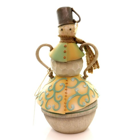 Jim Shore Snowman With Tin Cup Figurine River's End Christmas - image 1 of 4
