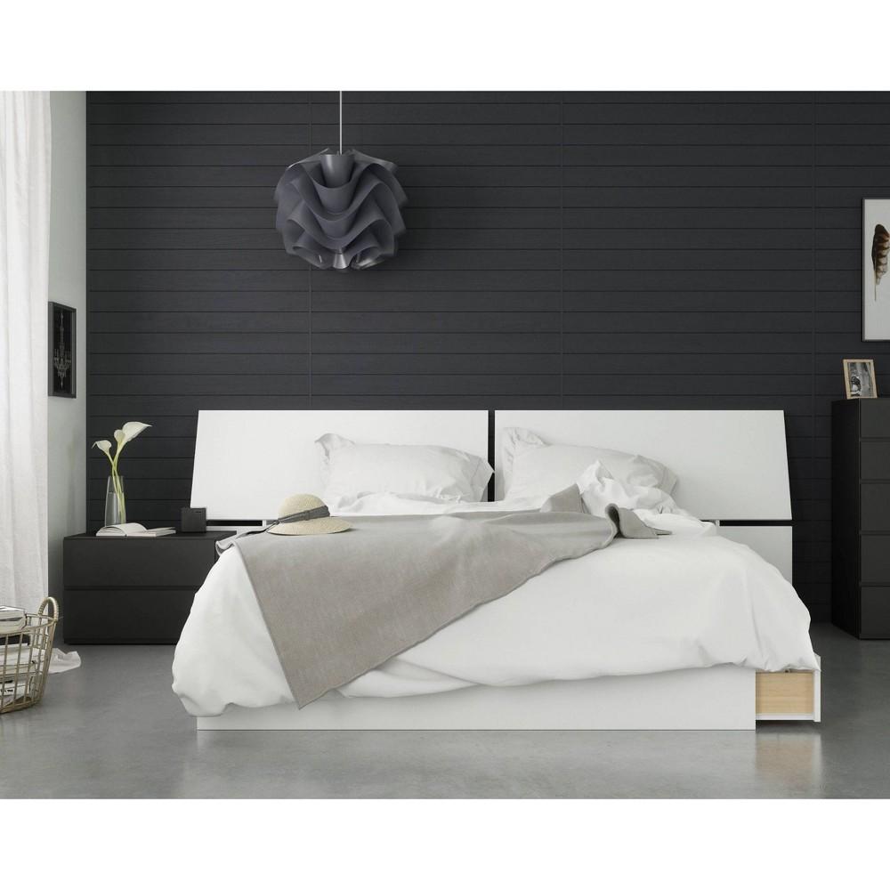 3pc Context Queen Bedroom Set Black/White - Nexera