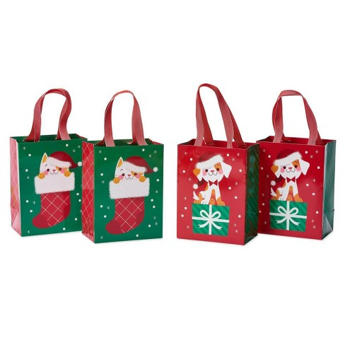4ct Medium Papyrus Christmas Cat and Dog Gift Bag Set - image 1 of 4