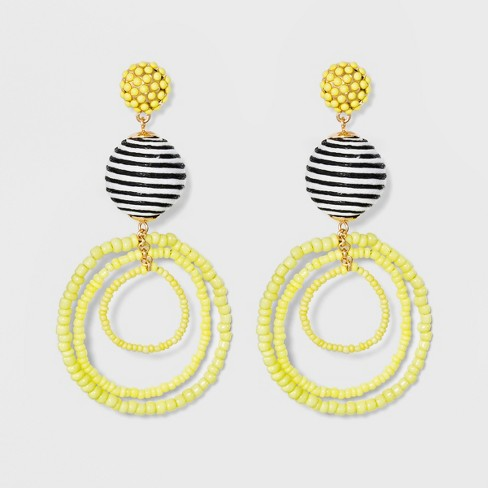 SUGARFIX by BaubleBar Mixed Media Drop Earrings - image 1 of 3