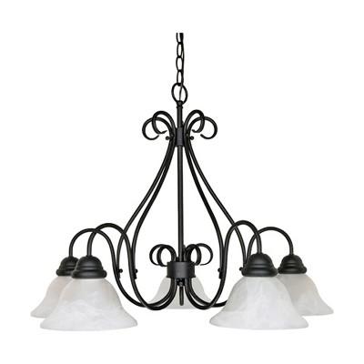 Ceiling Lights Chandelier Textured Black - Aurora Lighting