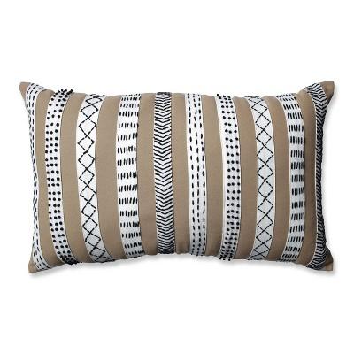 """12""""x20"""" Decorative Bands Lumbar Throw Pillow - Pillow Perfect"""