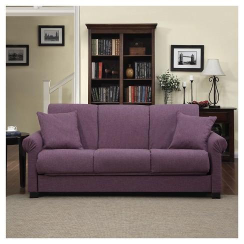 Robert Linen Rolled Arm Convert A Couch Futon Sofa Sleeper Handy Living Target