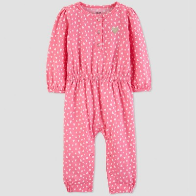 Baby Girls' Hearts Jumpsuit - Just One You® made by carter's Pink Newborn