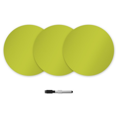 "Wall Pops!  Dry Erase Board Circle Decals 13"" 6ct - Lime Green - image 1 of 2"