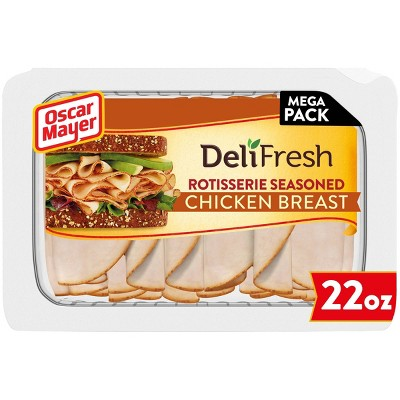 Oscar Mayer Deli Fresh Sliced Rotisserie Seasoned Chicken Breast - 22oz