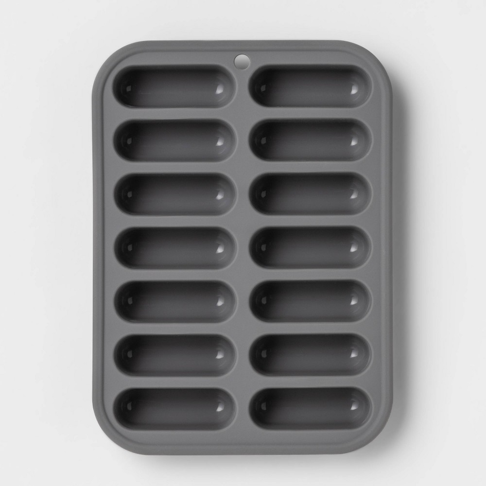 Image of Silicone Ice Cube Tray Gray - Room Essentials