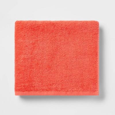 Everyday Solid Bath Towel Bright Coral - Room Essentials™