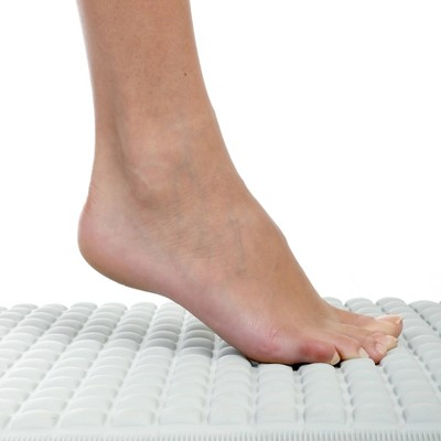 Cushioned Pillow Top Non-Slip Rubber Bathtub Mat Gray - Slipx Solutions