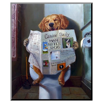 Dog Gone Funny Mounted Print