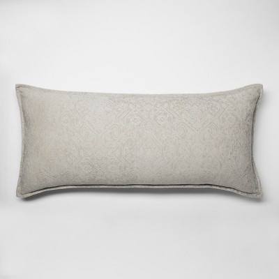 Gray Chenile Oversized Lumbar Pillow - Threshold™