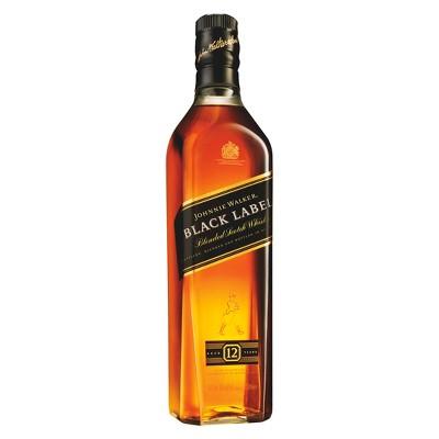 Johnnie Walker Black Label Scotch Whisky - 750ml Bottle