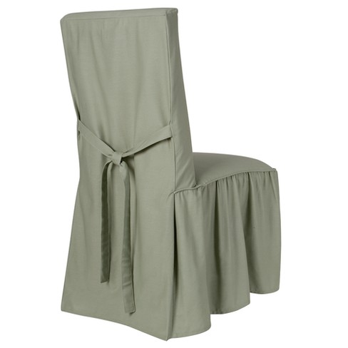 Peachy Green Cotton Duck Dining Chair Slipcover Simply Shabby Chic Cjindustries Chair Design For Home Cjindustriesco