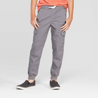 Boys' Cargo Jogger Pants - Cat & Jack™ Gray 12 Husky