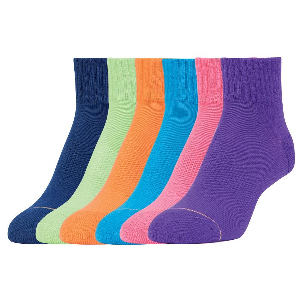 All Pro Women's 6pk Aquafx Ankle Socks - Purple 9-11