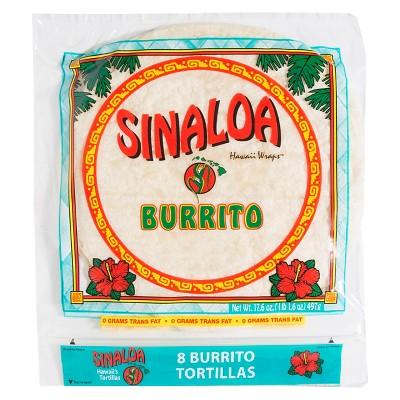 Sinaloa Burrito Size Hawaii Wraps - 17.6oz/8ct