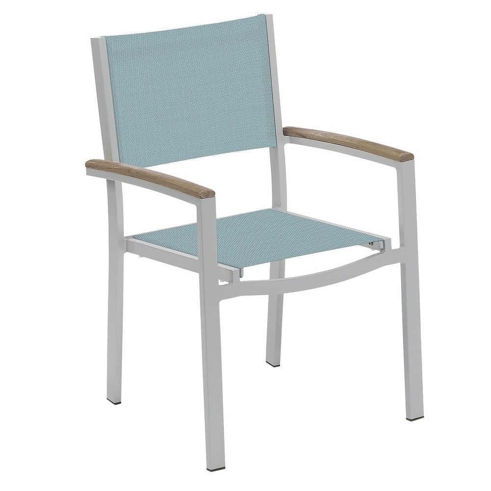 Prime Travira Set Of 2 Patio Dining Chairs Slate Sling Powder Lamtechconsult Wood Chair Design Ideas Lamtechconsultcom