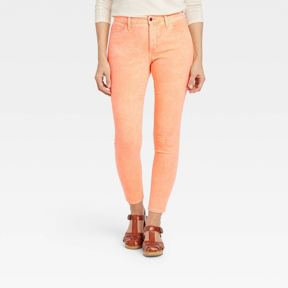 Women 39 S High Rise Curvy Skinny Jeans Universal Thread 8482 Orange 16