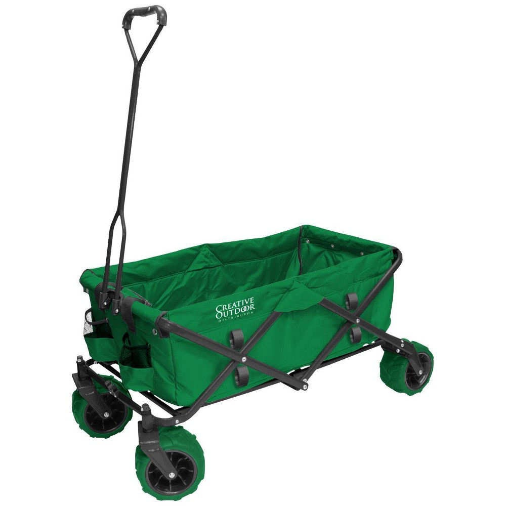 Image of Creative Outdoor Distributor All Terrain Folding Wagon - Green