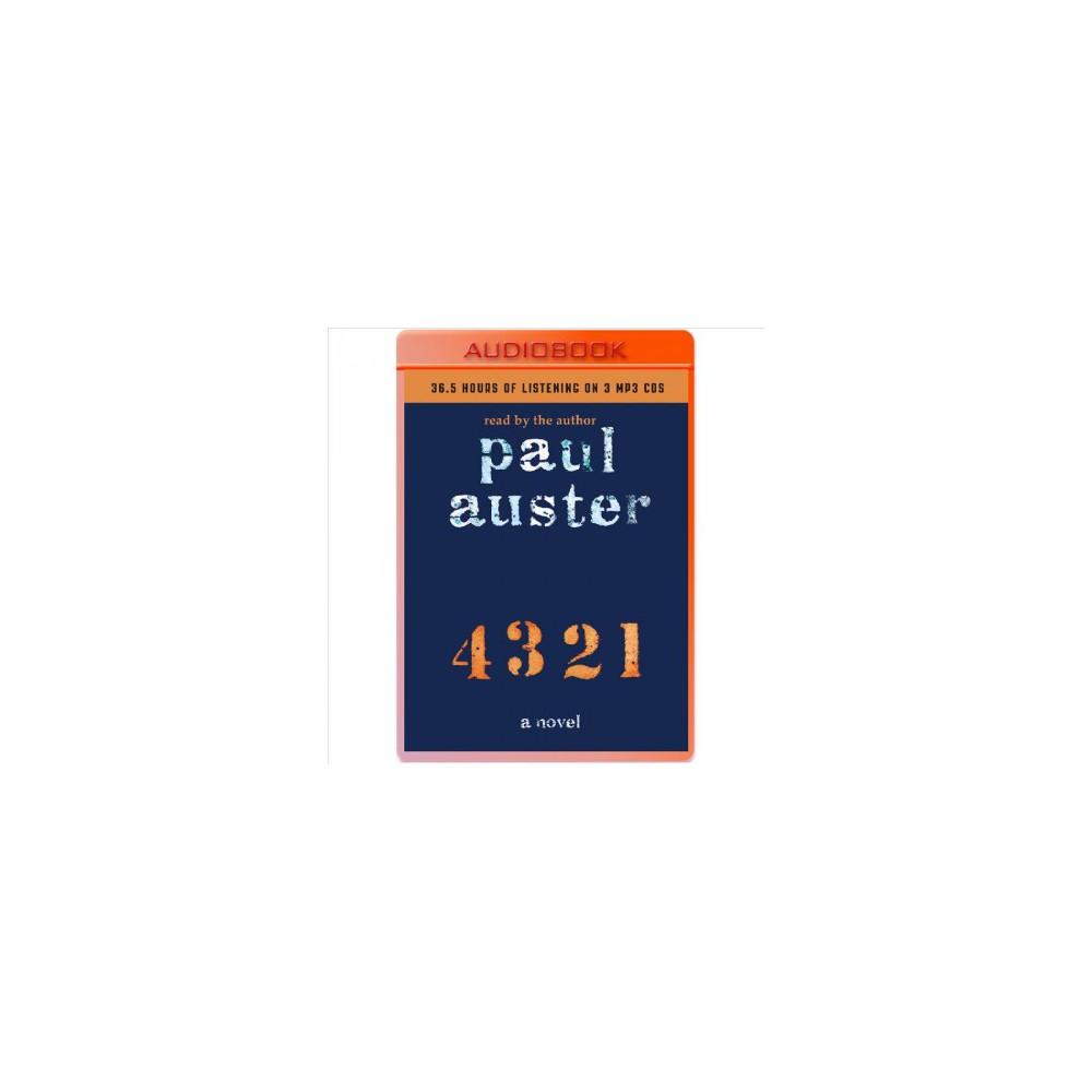 4 3 2 1 (Unabridged) (MP3-CD) (Paul Auster)