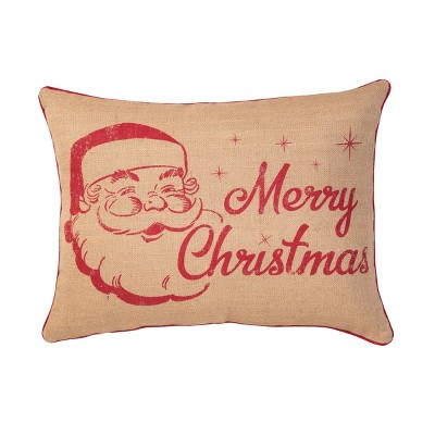 "C&F Home 18"" x 24"" Vintage Christmas Burlap Printed Pillow"