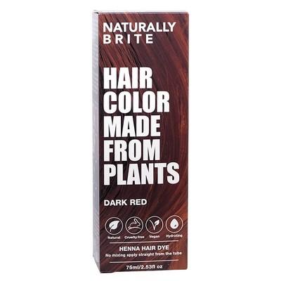 BRITE Naturally Henna Hair Dye Dark Red - 2.53 fl oz