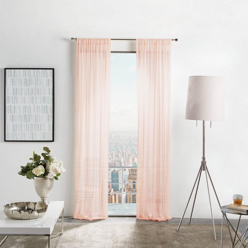 "Image of ""Set of 2 84""""x50"""" Glacier Sheer Curtain Panels Blush - Martha Stewart"""