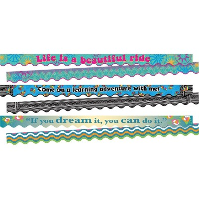 3pk Life Quotes Double-Sided Scalloped Classroom Borders - Barker Creek