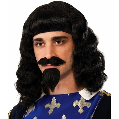Forum Novelties Musketeer Wig, Moustache, Goatee Costume Accessory Adult Men